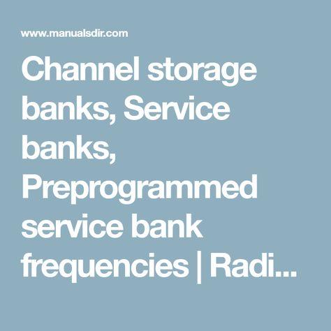 Channel storage banks, Service banks, Preprogrammed service