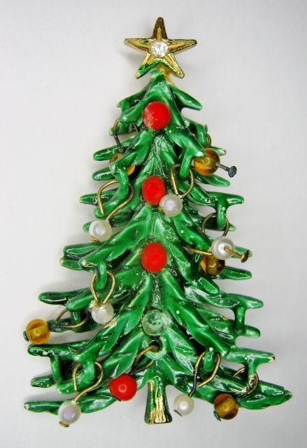 Pin By Linda Y On Mid Century Christmas Jewelry Christmas Tree Glitter Christmas Christmas Bling