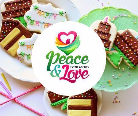 """""""Peace & Love"""" - логотип для ивент-агентства, организующего мероприятия """"под ключ"""". Дизайнер - Ольга Шу. #логотип #мир #любовь #ивент #праздник #сердце #голубь #peace #love #heart #pigeon #celebration #event #logo #лого #дизайн #design #logodesign #logotype #tailroom #inspiration"""