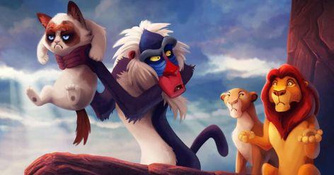 Artist Inserts The Legendary Grumpy Cat Into Disney Movies