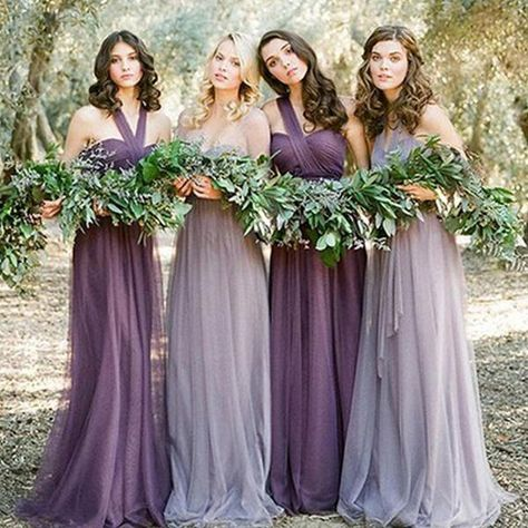 Cheap vestido madrinha, Buy Quality convertible purple bridesmaids dress directly from China purple bridesmaid dresses long Suppliers: Robe demoiselle d'honneur 2017 new tulle Convertible purple bridesmaid dress long cheap vestido madrinha Wedding Bridesmaid Dresses, Wedding Party Dresses, Party Wedding, Dusty Purple Bridesmaid Dresses, Prom Dresses, Ebay Dresses, Dresses 2016, Bohemian Bridesmaid, Evening Dresses