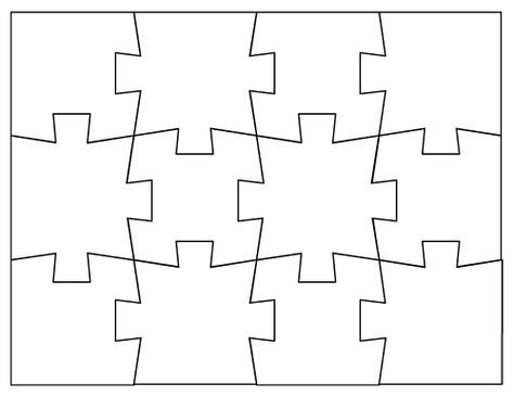 Blank Jigsaw Puzzle Templates Templates Custom Jigsaw Puzzles