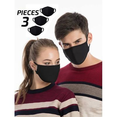 Izo Tshirt باندل 3 قطعة قناع وجه اسود مواصفات المنتج قناع مضاد للأتربة والغبار خامة قطن عالي الجودة قناع واقي من ا In 2020 Face Mask Face Mask