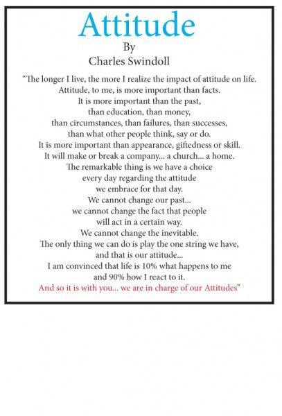 The Poem Attitude By Charles Swindoll Charles Swindoll