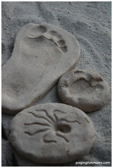 How to make Sand Clay - Create, Bake  Keep your own handmade keepsakes! Perfect for summertime FUN!