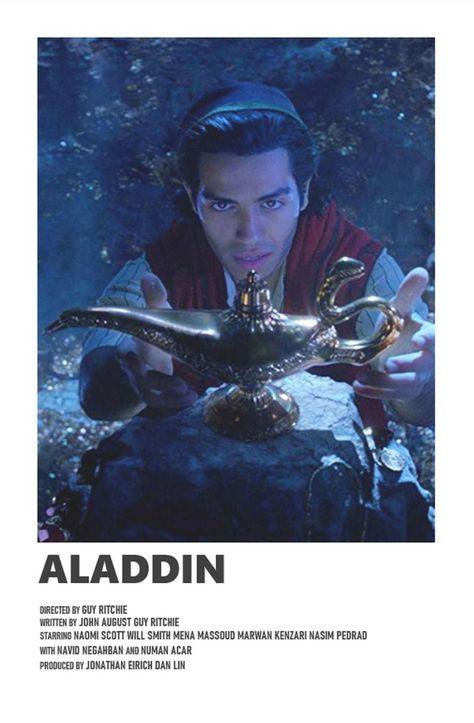 Aladdin minimal A6 movie poster