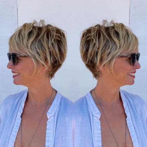 List Of Pinterest Kurzhaarfrisuren Damen Freche Grau Rundes Gesicht