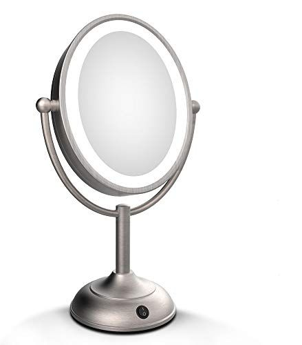 Glitz Buddy Lighted Makeup Mirror Battery Operated With Dimmable