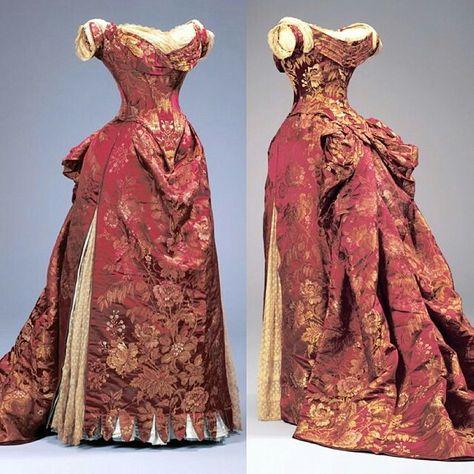 1885 Worth evening dress