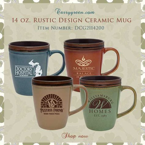 14 oz. Rustic Design Ceramic Mug Item Number: DCG2114200 #twotonemugs #ceramicearthmugs #welcomemugs #rusticweddingideas #rusticcolormugs #beautifulmugs #ceramicmugs #coffemugs #wintercoffeemugs #holidaycoffeemugs #mugsforholidays #holidaygiftideas #mugsgift #Coloredcofeemugs #mugs #whitemugs #largecoffeemugs #largemugs #colorfulmugs #mugsforwedding #weddinggifts #guestgifts