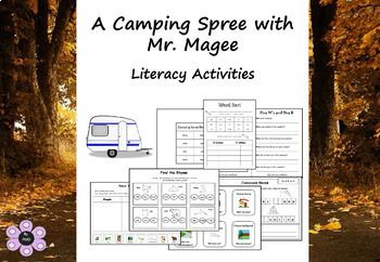 A Camping Spree With Mr Magee Literacy Activities Literacy Activities Camping Theme Classroom Literacy