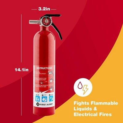 Garage Fire Extinguisher Clear First Alert With Images Fire Extinguisher Extinguisher Fire