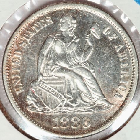 Rich Uhrich Rare U.S. Coins has this item on Collectors Corner - 1886-S 10C AU55