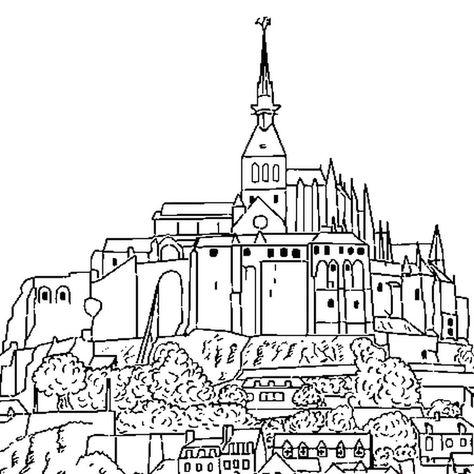 Mont Saint Michel En 2020 Mont Saint Michel Ville Dessin Saint