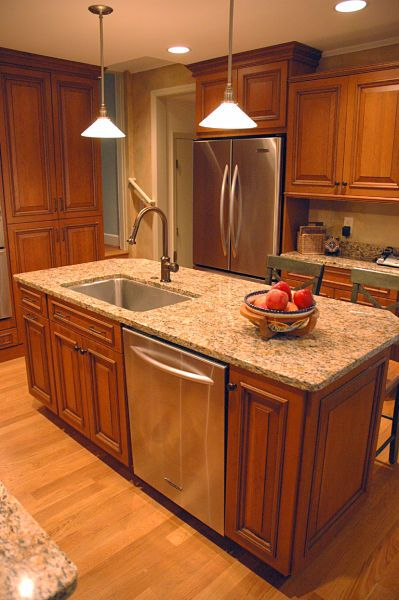 No kitchen remodel is complete without a new kitchen sink. This Winnetka  kitchen remodel takes it to the next level with an extra wide basin and a