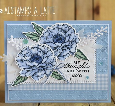 Butterfly Cards, Flower Cards, Homemade Greeting Cards, Paper Peonies, Embossed Cards, Beautiful Handmade Cards, Stamping Up Cards, Get Well Cards, Card Tutorials
