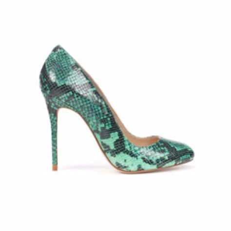 951bf24cacd ZARA Green Python Heels Heel height 4.13