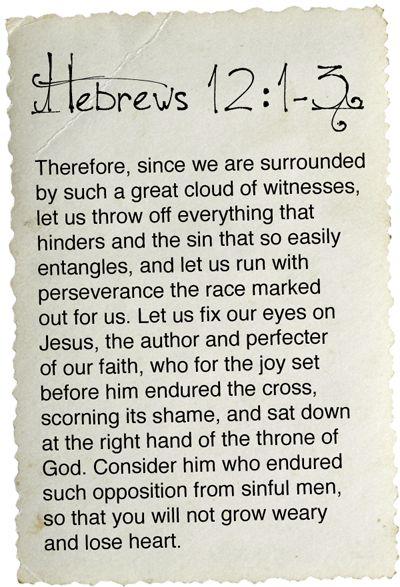 Hebrews 12:1-3 #Amen