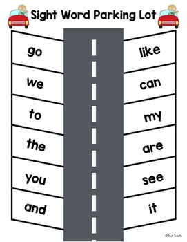 Use this Sight Word Parking Lot with your Guided Reading groups during tutoring or in Literacy Centers. Page Sight Words go we to the you and like can my are see it Blank so you can program it with any words you want Directions: Preschool Sight Words, Teaching Sight Words, Sight Word Practice, Sight Word Activities, Phonics Activities, Reading Activities, Guided Reading, Reading Groups, Reading Strategies