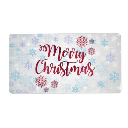 Merry Christmas 2 Label - labels customize diy cyo personalize