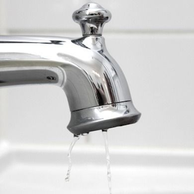 Fix dripping taps. A dripping hot water tap can waste enough hot ...