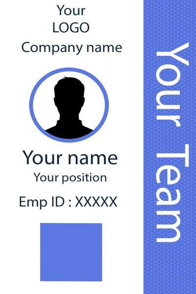 Id Card Twentytwo Front Id Card Template Employee Id Card Card Template