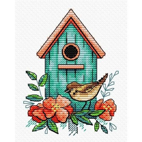Cross Stitch Kit Sparrow Home M-366