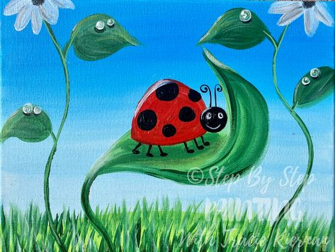 Cute Ladybug Painting - Step By Step Painting