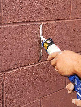 How To Repair Masonry Surfaces Concrete Block Walls Cinder Block Walls Fix Cracked Concrete
