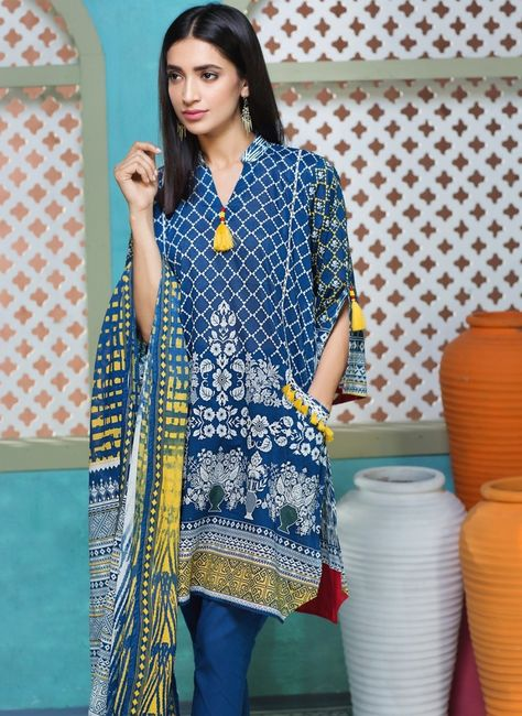 Khaadi Unstitched Eid Collection 2017 with model Rubab Ali