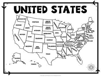 united states practice map Pin on Elementary 3+ Social Studies/Geography