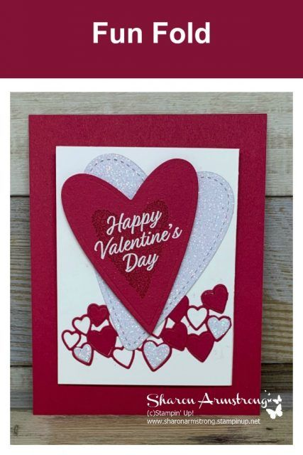 Exciting And Easy Fun Fold Valentine Card With Images