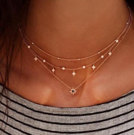 Fashion Gold Multi Layer Necklace Eye Pendant Star Necklace for Women Jewelry Dainty Jewelry, Cute Jewelry, Jewelry Accessories, Women Jewelry, Jewelry Box, Jewelry Stores, Jewelry Making, Jewelry Armoire, Jewelry Ideas