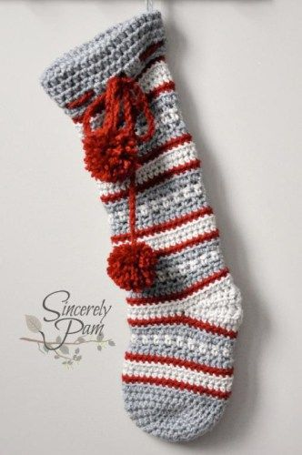 Crochet Christmas Stocking from Sincerely Pamhttp://www.craftsy.com/pattern/crocheting/home-decor/dylan-christmas-stocking/122192