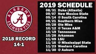 2019 Alabama Football Schedule Yeehah Roll Tide Roll Alabama