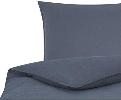 Leinen Bettwasche Carla Graublau 2 Tlg 155 X 220 Cm