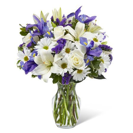White Flower And Iris Flower Delivery Bouquet With Pretty Cheap Flowers Flower Bouquet Vase Purple Flower Bouquet Flower Bouquet Wedding