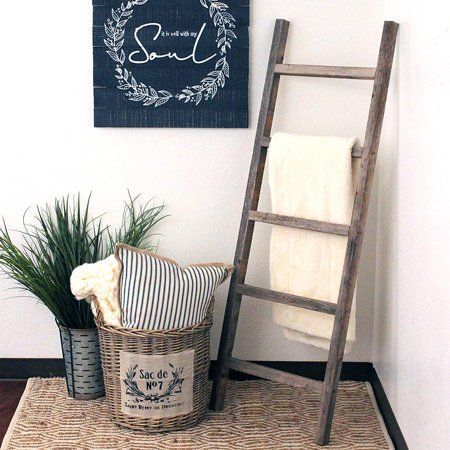 Barnwoodusa Rustic Farmhouse Decorative Ladder Our 5 Ft Ladder Can Be Mounted Horizontally Or Verti Creative Home Decor Ladder Decor Living Room Decor Rustic