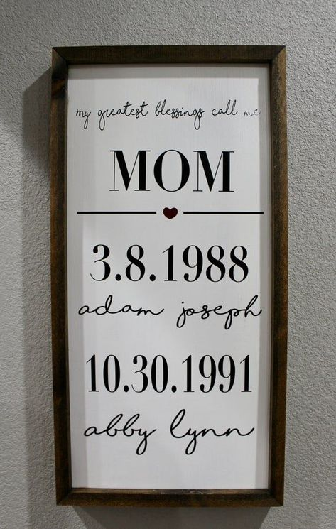 My greatest blessings call me mom sign/ wall decor/ home decor/ farmhouse sign/ gifts for mom/ mothe - DIY Jewelry Crafts Ideen Signs For Mom, Cute Signs, Diy Signs, Wall Signs, Bob Marley, Custom Vinyl Lettering, Diy Gifts For Mom, Call My Mom, Canvas Signs