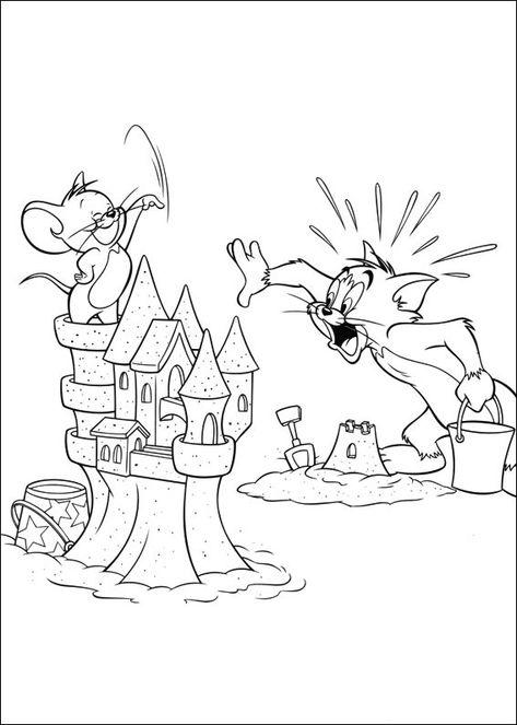 Pin Auf Tom Und Jerry Ausmalbilder Zum Ausdrucken