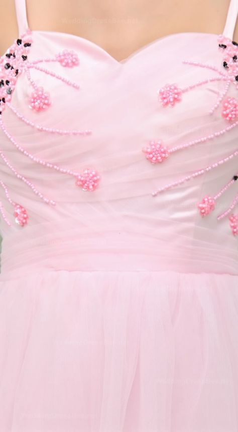Style No.0sp00686,Spathetti Straps A-Line Knee-Length Tulle Prom Dress With Beading Decoration,US$168.98 durupaper.com