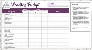Easy Wedding Budget Excel Template In 2020 Excel Budget Excel