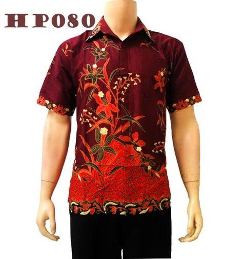 Baju Batik Kombinasi Tulis Pria Modern Motif Wayang KT 21 Kirim