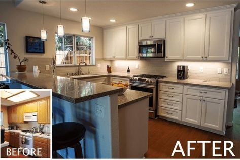 A Mini-Remodel with White Cabinets