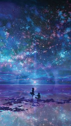 Anime-Uiverse-Shining-Stars-iPhone-Wallpaper:: Tons of