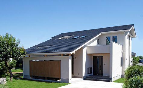 瓦屋根が美しい大屋根造りの家が完成しました 和風 和モダン