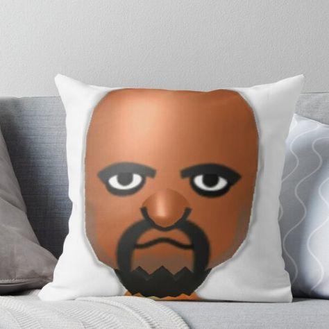 matt from wii sports meme throw pillow