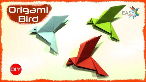 Origami flapping bird step by easy