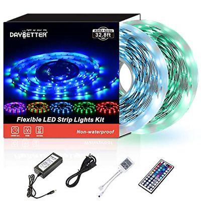 Sponsored Link Led Strip Lights 32 8ft 10m 600leds Non Waterproof Flexible Color Changing Rgb Led Strip Lighting Strip Lighting Flexible Led Strip Lights
