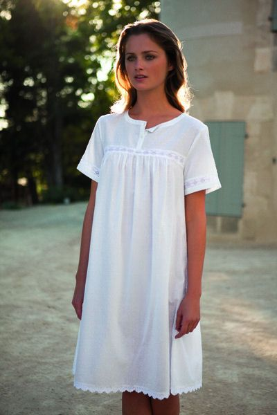 ab186a69 Embroidered Cotton Nightdress - Clothing - Woman - Homewear & shoes | Zara  Home Hungary | vintage style in 2019